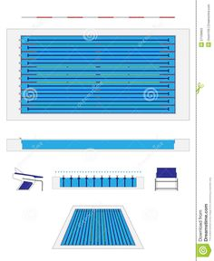 Olympic Swimming Pool Diagram olympic indoor swimming pool at an international sports venue