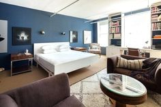 Schlafzimmer Blau Wandfarben Im 105 Ideen Fa 1 4 R Erholsame