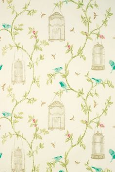 BIRDCAGE WALK Fabric from Nina Campbell-LOVE LOVE LOVE