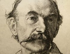 1893 Etching of Thomas Hardy by William Strang (Detail) by Thomas Shahan 3, via Flickr - Brilliant.