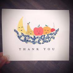 Cute fruit to say thank you!  #Cardoftheday by @Paulaandwaffle