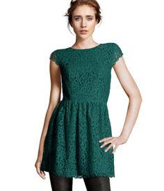 H - Green lace dress