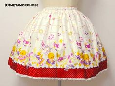 Metamorphose Temps de Fille- March of Duck mini skirt