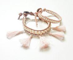 Mix de pulseiras quartz rose