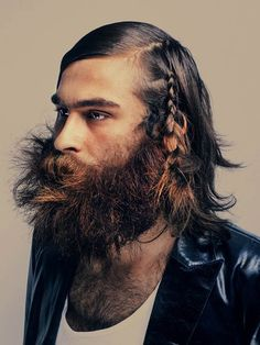 next editorial look i do will be french braiding into a beard.