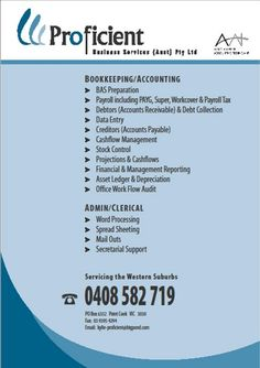 bookkeeping flyer - Google Search