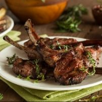 Lollipop Lamb Chops with Rosemary Sauce. Channel your inner Mesopotamian when you bite into these mighty lamb chops. These meat pops have a uniquely savory, and robust flavor that cooks hot and fast for a quick meal. Braised Lamb Chops, Grilled Lamb Chops, Lamb Chop Recipes, Meat Recipes, Lollipop Lamb Chops, Lamb Lollipops, Salsa Barbacoa, Chicharrones, Chops Recipe