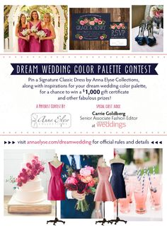 Wedding Gift Ideas USD1000 : Dream Wedding Color Palette Contest for a chance to win a USD1,000 gift ...
