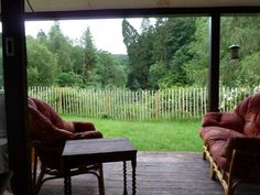 Roeburnscar Holiday Cottage, Forest of Bowland / Dales. Balcony view from the sitting room http://www.organicholidays.com/at/3350.htm