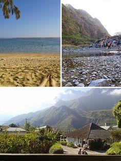 The diverse landscapes of Reunion Island.  Five reasons to visit Reunion Island ~ Sure Travel #Reunion #gotoReunion #island #paradise #volcano