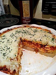 "Sicilian Spaghetti Bake! ""Grandma's Gravy In This Sicilian Spaghetti Bake!!! :santa""  @allthecooks #recipe"