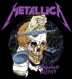 Metallica Damaged justice artwork
