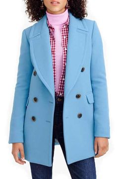 J.Crew Double Cloth Wool Double Breasted Coat