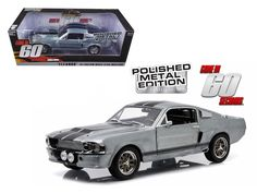 """1967 Ford Mustang \""""Eleanor\"""" Gone in 60 Seconds Movie (2000) Polished Metal Limited Edition 1/18 Diecast Model Car by Greenlight"""
