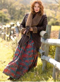 Une belle veste en peau retournée, on adore le look boheme! Disponible jusqu'en taille 58 pour 41.99€