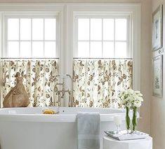 Bathroom Window Treatment With Cafe Curtain Style Bathroom Window Treatments,  Bathroom Windows, Curtain Styles