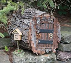 Hollow Log Home Fairy House