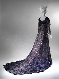 Evening dress.  1902, French; silk, sequins.  Gift of Miss Irene Lewisohn, 1937 .