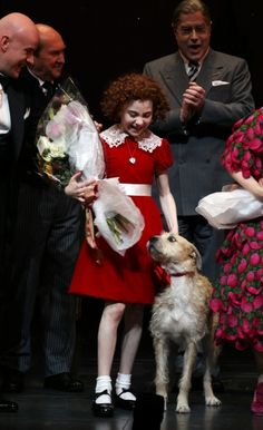 Did you know that Sunny, the dog that plays Sandy on Broadway, was saved from the pound 24 hours before he was supposed to be put down?