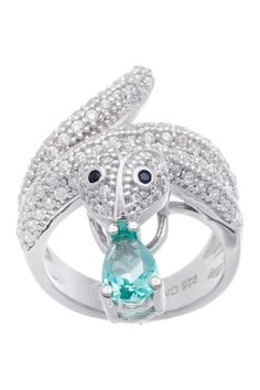 Sterling Silver Pave CZ Snake Ring from HauteLook on shop.CatalogSpree.com, your personal digital mall.