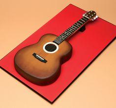 Acoustic Guitar Cake by Rhianydd Easton