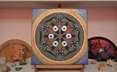 Butterfly Evil Eye Mandala , Mandala Dotillism , Protection Mandala, Mystic Symbols Art , Sacred Geometry Mandala, Healing Mandala