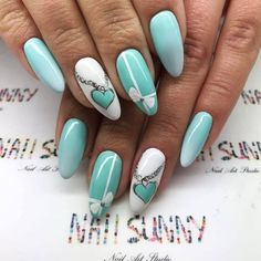 Tiffany blue nails, It's a symbol of patience and peace. Beautify yourself with these tiffany blue nails and uplift your mood. 3d Nail Art, 3d Nails, Cute Nails, Pretty Nails, Stiletto Nails, Summer Acrylic Nails, Spring Nails, Summer Nails, Nail Polish Designs