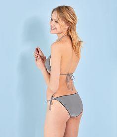 Bikini milrayas para mujer azul Abysse / blanco Lait - Petit Bateau