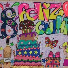 Imagen relacionada Origami, Happy Birth, Ideas Para, Diy And Crafts, Pastel, Kids Rugs, Lettering, Drawings, Birthday