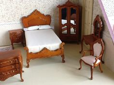 Dollhouse  miniature vintage french style bedroom by bellainrosa, $120.00