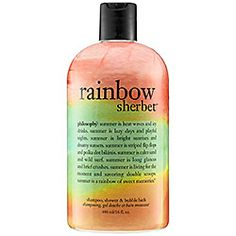 Philosophy - Rainbow Sherbet Shampoo, Bubble Bath, Shower Gel - Quite possibly my FAVORITE scent so far!!!