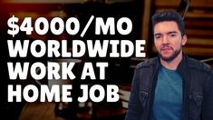 $4000/Month Worldwide Work-From-Home Job Hiring Now 2021 Hiring Now, Jobs Hiring, Work From Home Careers, Video Notes