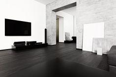 Ultra Modern Living work of art in extreme Black & White - homeyou ideas