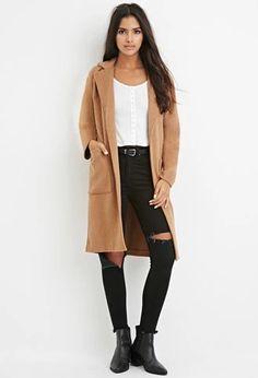 Longline Wool-Blend Coat | Forever 21 | #thelatest