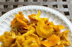 Chanterelles taste great, but the immense amount of moisture they contain can be troublesome when cooking. Wild Game Recipes, Paleo Recipes, Snack Recipes, Snacks, Vegetable Drinks, Vegetable Recipes, Vegetable Sides, Chanterelle Mushroom Recipes, Mushroom Meals