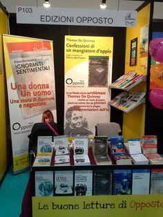 Edizioni Opposto's stand in Salone del libro di Torino