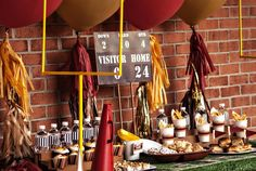 Vintage football tailgate party