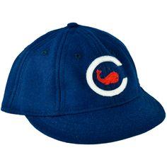 Chicago Whales 1915 Ballcap - Authentic reproduction of 1915 ballcap Vintage Baseball Caps, Baseball Hats, Baseball Fabric, Navy Cap, Beanie Hats, Beanies, Sports Uniforms, Cubs Fan, Vintage Soft