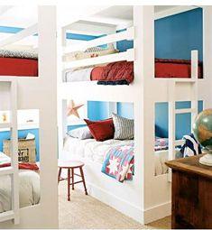 avec le lit superposé tu mets la couleur punch là o;u est le lit. le reste des murs peut être gris pâle..
