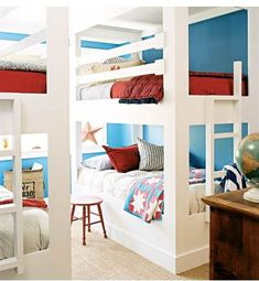 To Share or Not to Share a Bedroom? A mom of five explains why her kids have shared for years. She gives both pros, cons, and lots of bedroom decor ideas.