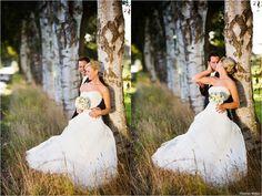 Das Hochzeitspaar macht tolle Hochzeitsportraits in   Rastede