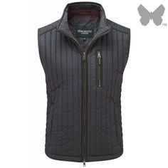 Hackett Men's Channel Quilt Gilet - Navy - Hackett London - Our Brands Men's Waistcoat, Country Attire, London Outfit, Navy Man, Body Warmer, British Style, Clothes For Sale, Summer Wardrobe, Channel