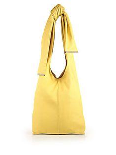 Marni Leather Hobo Bag - Maize - Size One Size