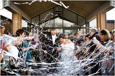 Streamers as you exit ceremony