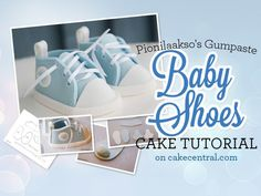 I really want to try this: Baby Shoes Tutorial - Baby Shower Cake - Cake Central Baby Shoes Tutorial, Cupcake Tutorial, Fondant Tutorial, Fondant Tips, Cake Decorating Techniques, Cake Decorating Tutorials, Decorating Cakes, Decorating Ideas, Fondant Baby Shoes