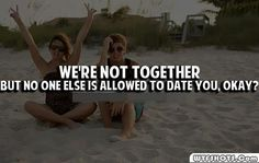 We're not together.....