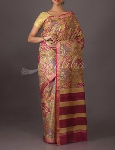 Aishwarya Stylish Floral Print #printedSilkSaree