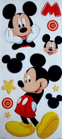 Disney Mickey Mouse embossed Sandylion Scrapbook stickers