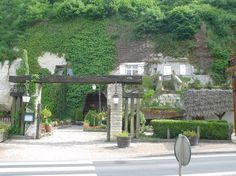 Cave Vouvray Entrance--French wine tasting