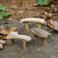 Miniature Fairy Garden Driftwood Bench, 1 Piece Jeremie - appealing natural looking benches